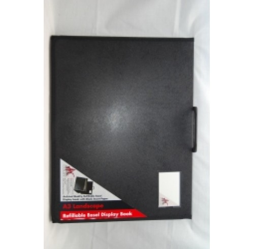 Display book a3 colby l/scape easel black