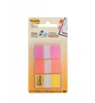 Post- it flags 680-poy 25mm trans 3 colours