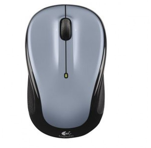 Logitech Wireless Mouse Silver and Black M325