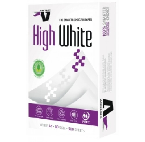 Copy Paper VICTORY A4 High White 80gsm -5 Reams