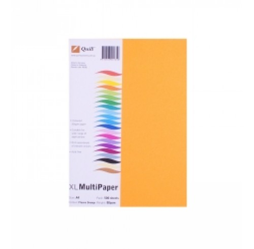 Quill Fluro Orange A4 80GSM PK500