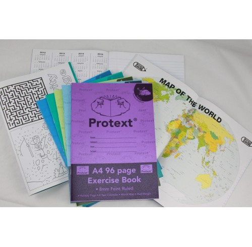 Exercise book protext a4 8mm ruled pp cover 96pg rabbit pk 10