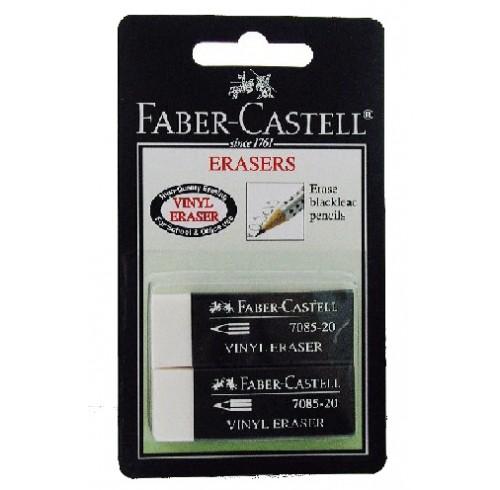 Erasers faber 7085-20 pk2