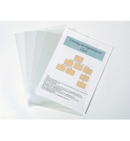 Letter file marbig a4 glass clear pkt 10