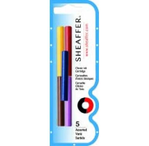 Ink cartridge sheaffer skrip jb/bl/r/g/l h/sell pk5