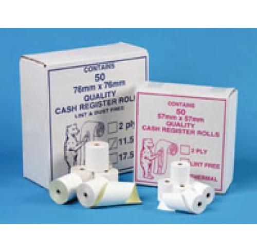 Add machine rolls 76x76 low lint - box of 50