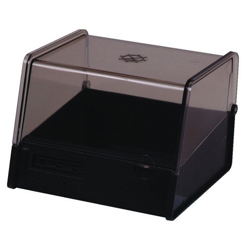System card box esselte 8x5 charcoal