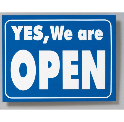 Sign open/closed double sided 220x280