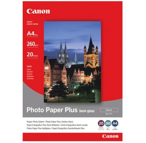 Paper photo canon a4 semi gloss sg-201 i/j 260gsm pk20