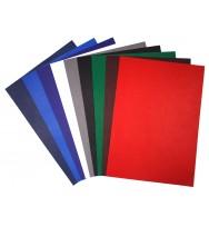 Binding covers quill a4 l/grain navy blue 250gm pk 100