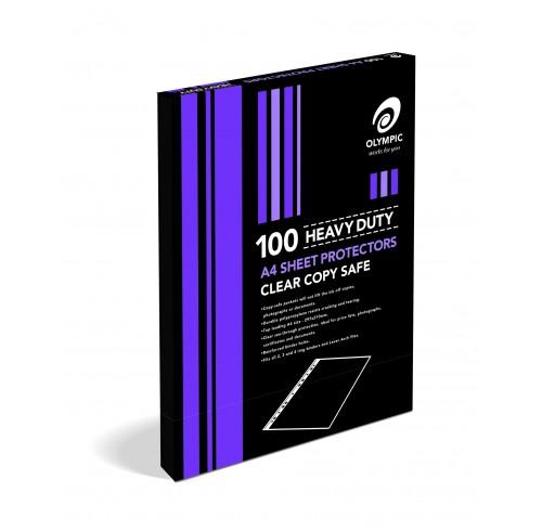 Sheet protectors A4 Heavy bx100