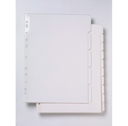Dividers marbig a4 manilla white 10 tab reinf