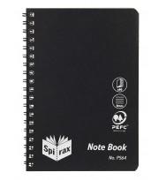 Note book spirax p564 pp s/o 80pg black - pack of 5