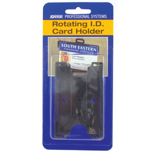Card holder kevron id rotating b/pack id1025pp