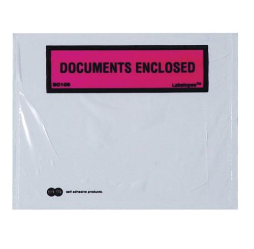 Labelope quik stik documents enclosed bx500