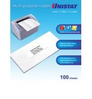 Label Unistat Laser/Inkjet/Copier 2UP 148x210 38938 Bx100