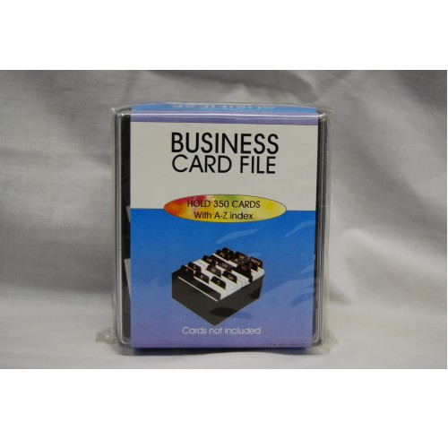 Business card holder with index 400 capacity eagle